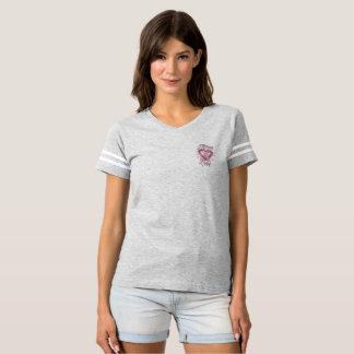 T-shirt Par la pièce en t de football de cancer du sein