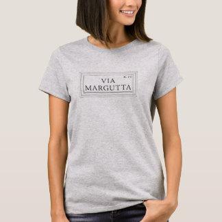 T-shirt Par l'intermédiaire de Margutta, plaque de rue de