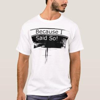 T-shirt parce que