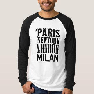 T-shirt Paris, New York, Londres, Milan