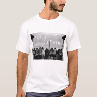 T-shirt Paris, t'aime de Je