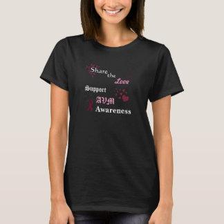 T-shirt Partagez la conscience de soutien AVM d'amour