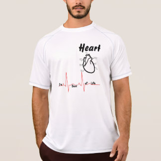 T-shirt Parties du corps -- Coeur humain