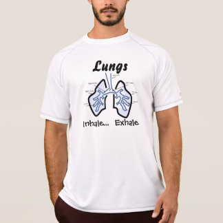 T-shirt Parties du corps -- Poumons humains