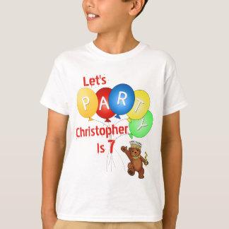 T-shirt Party le 7ème prince d'ours d'anniversaire
