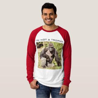 T-shirt Pas un trophée de gorille