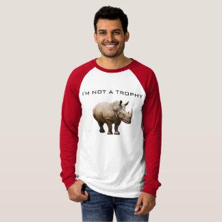 T-shirt Pas un trophée de rhinocéros