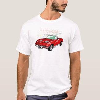 T-shirt Pastenague de Corvette ou voiture de sport rouge