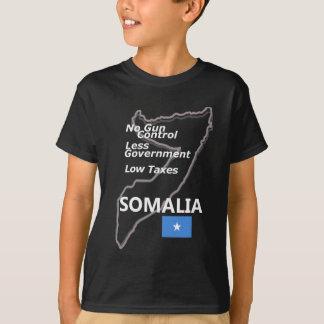 T-shirt Patrie : La Somalie (texte, carte blancs)