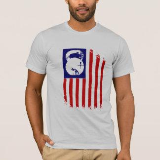 T-shirt Patriote de Kettlebell sur le blanc