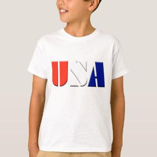 T-shirt patriotique des Etats-Unis d'enfants