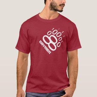 T-shirt Patte d'ours binaire de Gaymer (blanche)