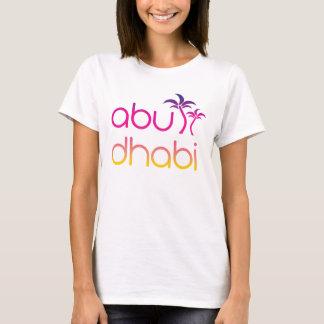 T-shirt Paumes d'Abu Dhabi dans des couleurs de coucher du