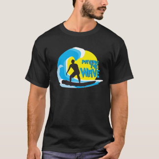 T-shirt Pavage du surfer chargé par vague 1