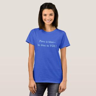 T-shirt Pavez-le bleu--Soyez vrai à vous