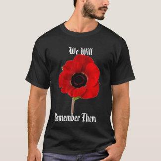 T-shirt Pavot, nous, se rappeler les