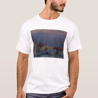 T-shirt Paysage côtier (huile sur la toile)