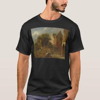 T-shirt Paysage urbain avec le pont-levis par Adriaen van
