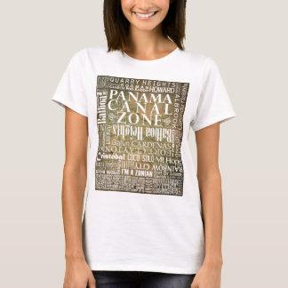 T-shirt PCZ - Emplacements de zone de canal de Panama Avec