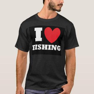 T-shirt Pêche.  J'aime pêcher