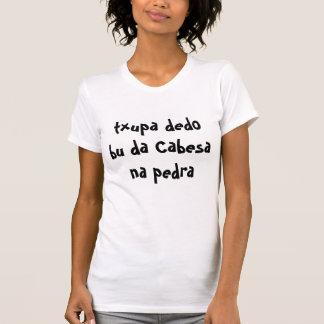 T-shirt pedra de Na du DA Cabesa de Bu de dedo de txupa