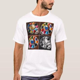 T-shirt Peignez la couleur et le noir et le blanc