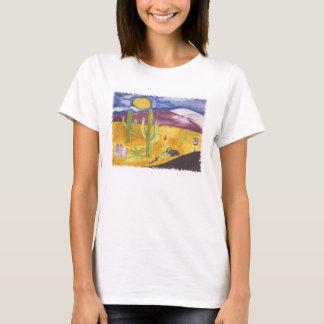 T-shirt peint de désert