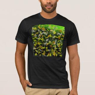 T-shirt Peinture abstraite de pétrole et d'acrylique