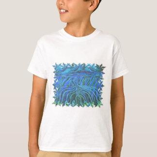 T-shirt Peinture acrylique d'abrégé sur anges de main