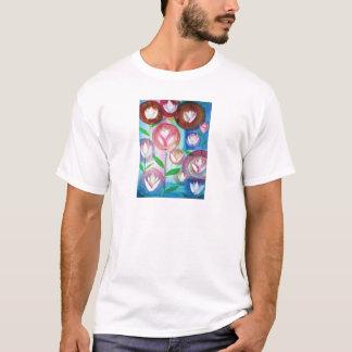 T-shirt peinture de jardin de TULIPES de fleurs