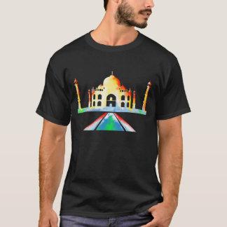 T-shirt Peinture pour aquarelle du Taj Mahal