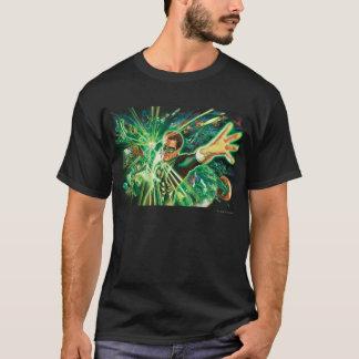 T-shirt Peinture verte de lanterne