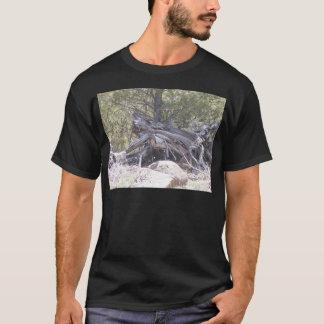 T-shirt Pêle-mêle de bois vieillissant