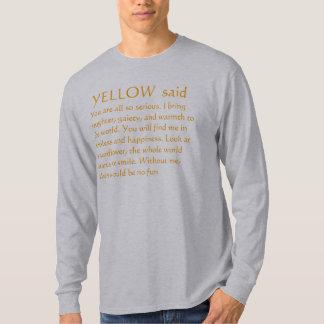 T-shirt Pensées JAUNES de tournesol