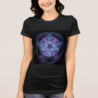 T-shirt Pentagone étoilé bleu du feu de sorcellerie