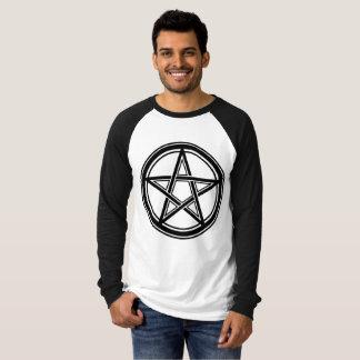 T-shirt Pentagram - 666 - Hail satan - Sleeve
