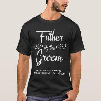 T-shirt Père du marié - dîner drôle de répétition