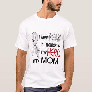 T-shirt Perle dans la mémoire de mon cancer de poumon de