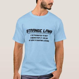 T-shirt Permis de chasse étrange de souricière à clapet