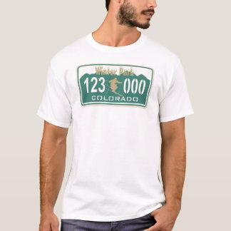 T-shirt Permis de ski de parc d'hiver d'or