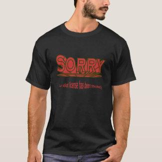 T-shirt Permis d'idiot