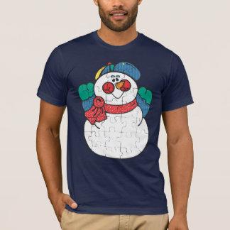 T-shirt perplexe de bonhomme de neige
