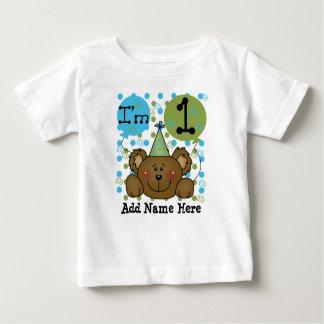 T-shirt personnalisé d'anniversaire d'ours de