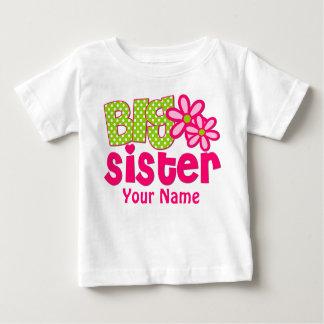 T-shirt personnalisé par vert de rose de grande
