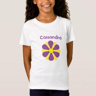 T-Shirt personnalisez avec la rétro fleur nommée