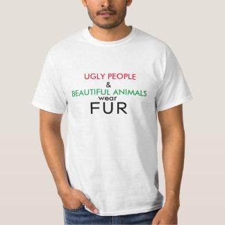 T-shirt Personnes laides de chemise végétalienne et belle