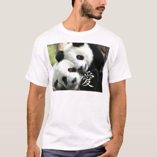T-shirt Petits pandas géants affectueux chinois