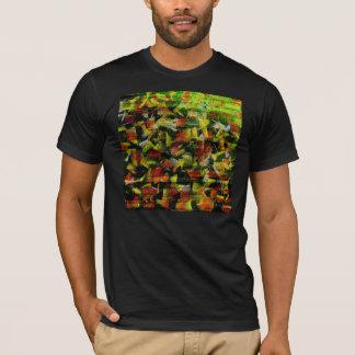 T-shirt Pétrole abstrait et acrylique peignant 2