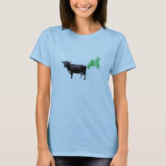 T-shirt Pets de vache à traitement, réchauffement