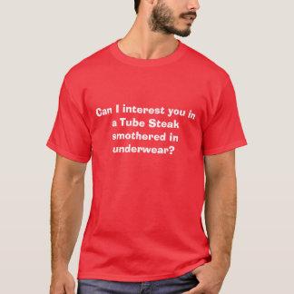 T-shirt Peut l'intérêt d'I vous dans un bifteck de tube